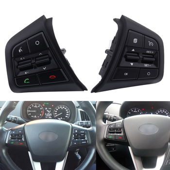 цена на Car Steering Wheel Control Buttons With Cables Cruise Control Switch Button Steering Wheel Button For Hyundai ix25 1.6 Creta 2.0