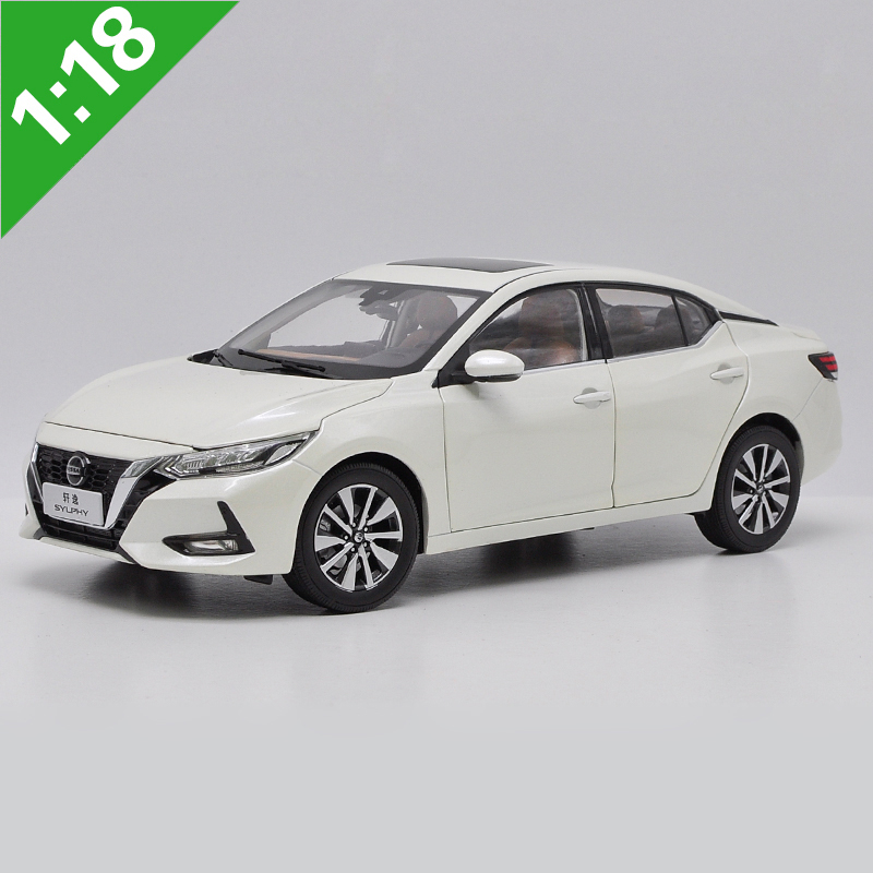 1:18 High Meticulous Nissan 14th 2019 SYLPHY Alloy Model Car Static Metal Model Vehicles With Original Box For Collectibles Gift