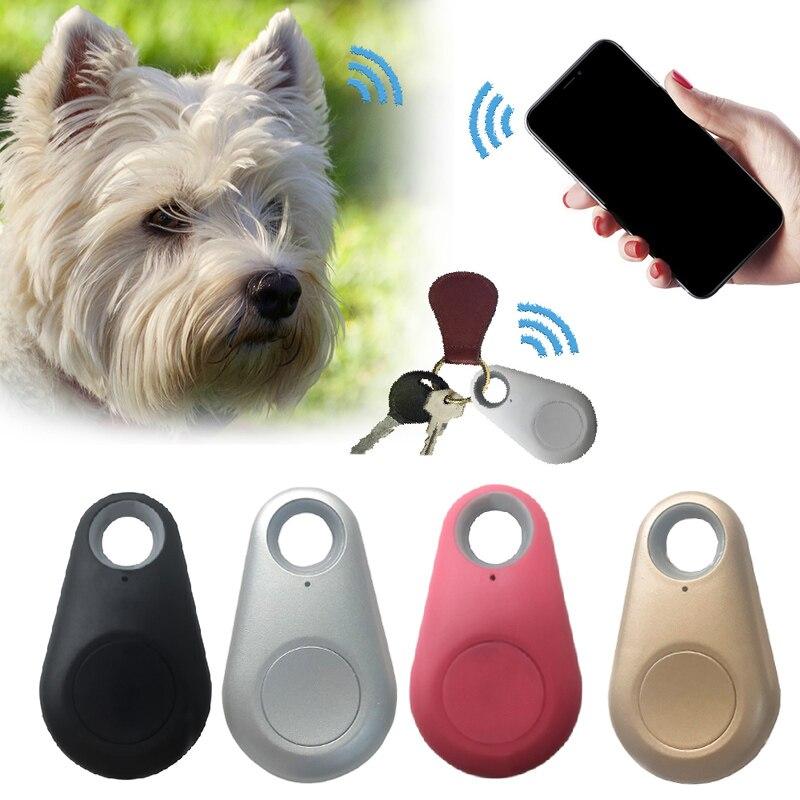 Mascotas Mini rastreador GPS inteligente Anti-Pérdida impermeable rastreador Bluetooth para mascotas perro gato llaves cartera bolsa niños rastreadores equipo buscador