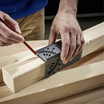 Linijka do obróbki drewna 3D miernik kąta nachylenia narzędzie do pomiaru rozmiaru kwadratu tanie i dobre opinie OLOEY Woodworking Measure Tool CN (pochodzenie) WY049 Narzędzia do obróbki drewna 3D Mitre Angle Measuring Gauge 0 01