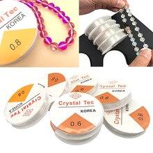 Прозрачный эластичный прозрачный шнур веревка из бисера проволочная нить для DIY ожерелье браслет аксессуары для ювелирных изделий