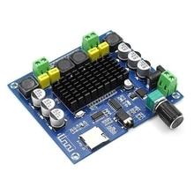 XH A314 블루투스 5.0 TPA3116 디지털 파워 앰프 보드 2x50W 스테레오 오디오 앰프 모듈 지원 TF 카드 AUX 홈 시어터