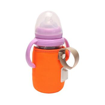 Portable USB Baby Milk Bottle Heater Warmer Stroller Car Insulated Bag Pouch stretch to fit most baby feeding bottles gifts image