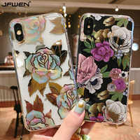 Silicone Case For iphone 11 Pro XS Max X 7 8 Plus Case Flower Soft TPU Phone Cases For iphone XS Max XR X 7 6 6S Plus Case Cover