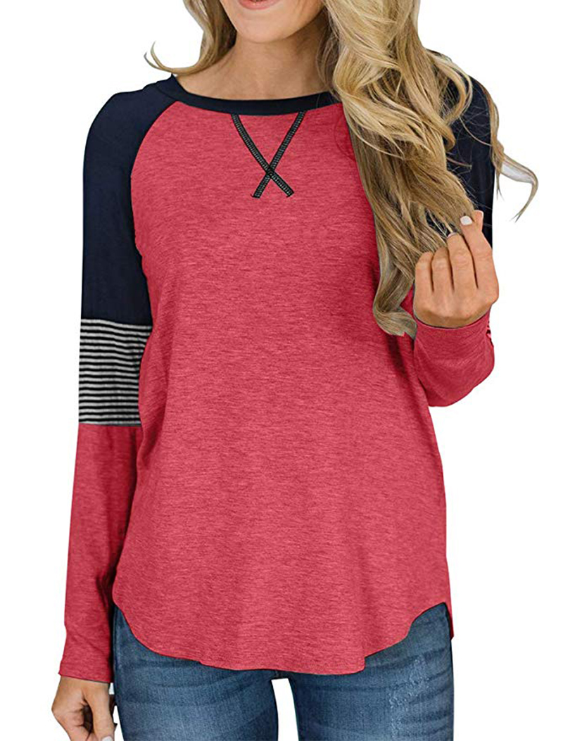 Hot Sale Long Sleeve Shirt Women Autumn Winter Round Neck Casual Loose T-shirt Women Tops Fashion Ladies T-shirt Clothes 2019 (10)