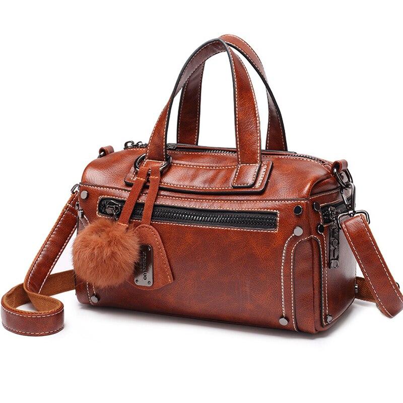 Genuine Leather Bag Single Shoulder Bags Crossbody Fashion Luxury Handbags Women Bag Designer Female  Vintage Totes High Quality