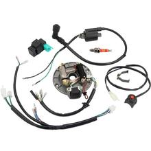 For 50-125cc Kick Start Dirt Bike Wire Harness Loom CDI Coil Magneto Universal full dc 90cc 110cc 125cc 140cc 150cc kick electric start engine wiring harness loom pit dirt bike