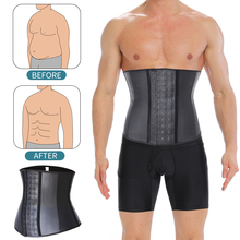 Mens Waist Trainer Modeling Belt Sauna Effect Belly Shapers Slimming Cincher Body Shaper Tummy Latex Shapewear Sweat Slim Corset