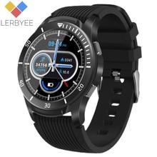 Lerbyee gt106 relógio inteligente tela cheia toque monitor de freqüência cardíaca chamada lembrete fitness relógio esporte smartwatch para ios android