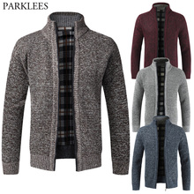 Coat Cardigan Jackets Sweaters Knitted Thick Winter Casual Men Fashion Warm Autumn Full