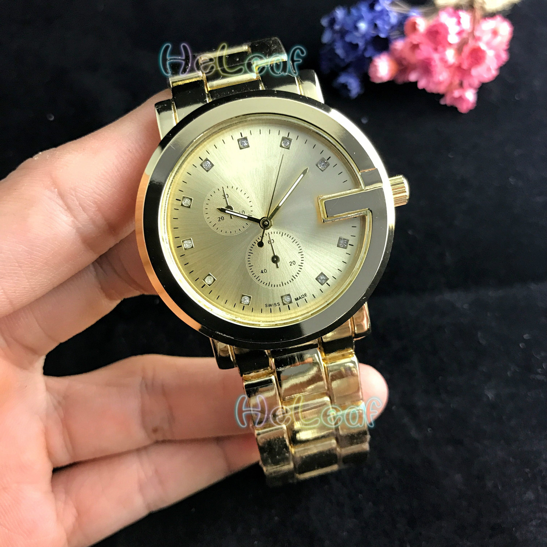 Luxury Fashion Women Watches Silver Gold Round Stainless Steel Band Quartz Watch Female Clock Montre Femme Relogio Feminino