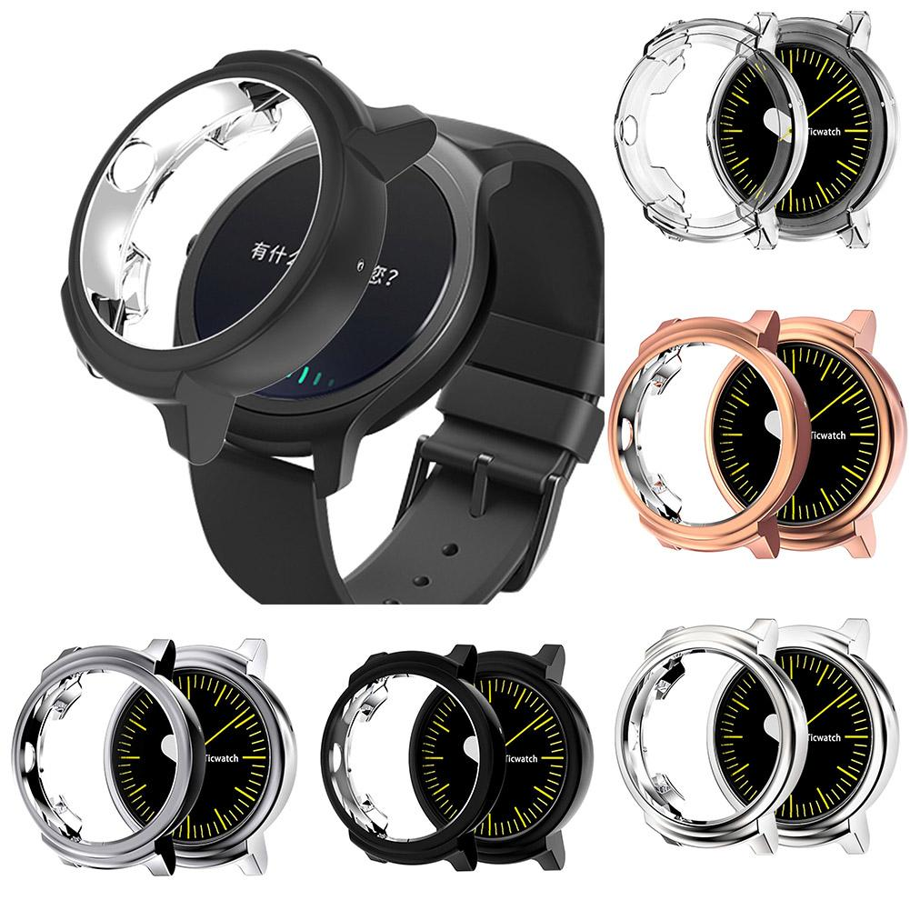 Watch Cases Soft Shockproof Smart Watch Protective Case Bumper Frame Cover For Ticwatch E Watch Protective Case Shockproof Cover