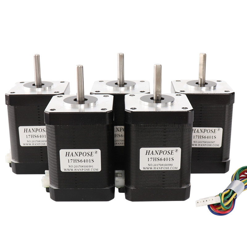 Free shipping 2-phase hybrid stepper motor nema17 motor 60mm (1.7A, 0.73NM, 60mm, 4-wire) nema 17 17HS6401 for 3D printer cnc