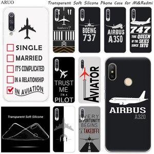 Airplane DIY Airstrip Number Silicone phone Case For Xiaomi 10 9 SE 9T A3 A2 Lite Redmi K20 K30 7a 6a 6Pro Y3 Note 9 S 6 7 Pro 8(China)