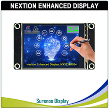 "2.4 ""NX3224K024 Nextion משופר HMI USART UART סידורי Resistive מגע TFT LCD מודול לוח תצוגת Arduino פטל Pi"