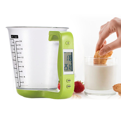 Electronic Measuring Cup Kitchen Scales Digital Beaker Host Weigh Temperature Measurement Cups With LCD Display
