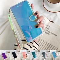 Funda de cuero con espejo 3D na para Samsung Galaxy A51, A71, A30S, A50, A40, A20e, M30s, S8, S9, S10, S20 Plus, Ultra LTE, con tapa y soporte