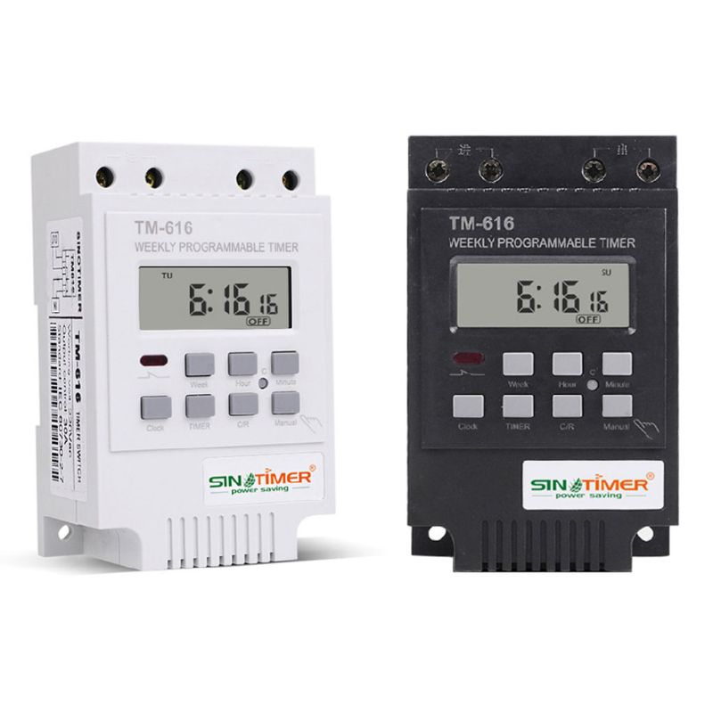 1PC TM616W-4 Digital Electronic Timer 220V 30A Weekly Programmable Relay Controller Household Electric Tools