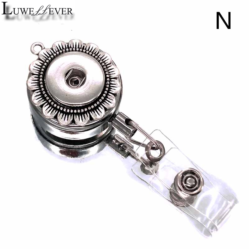 Portable ID Lanyard Badge Reel Retractable Pull Keychain Name Tag Card Holder