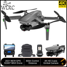 WLRC 2021 NEW SG907 MAX FPV Drone Upgrade 3-axis Gimbal 5G Professional 4K Dual Camera RC Foldable Quadcopter Gift for Beginner