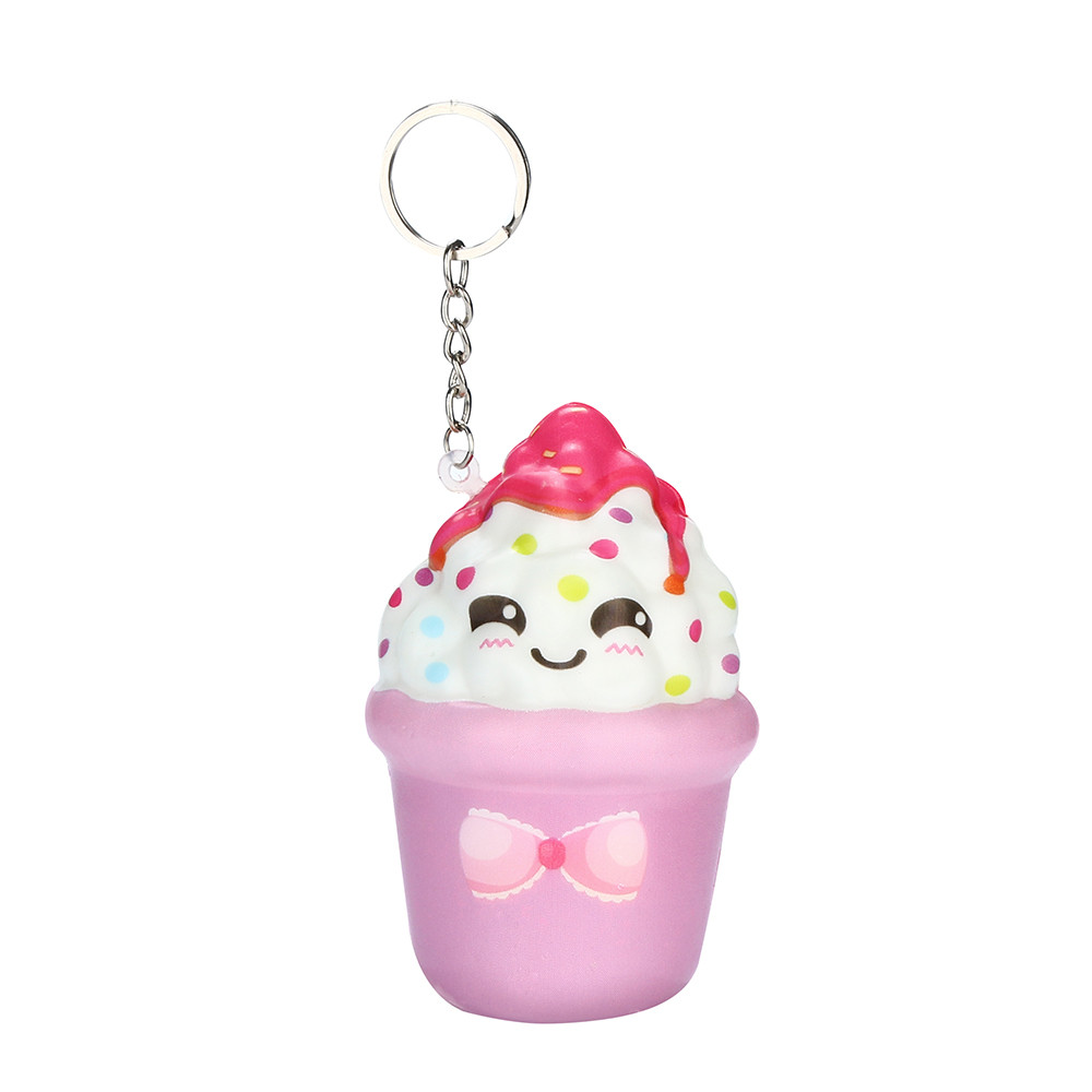 Squishies Kawaii Ice Cream Slow Rising Cream Scented Keychain Stress Relief Toys Toys For Children Juguetes De Descompresion