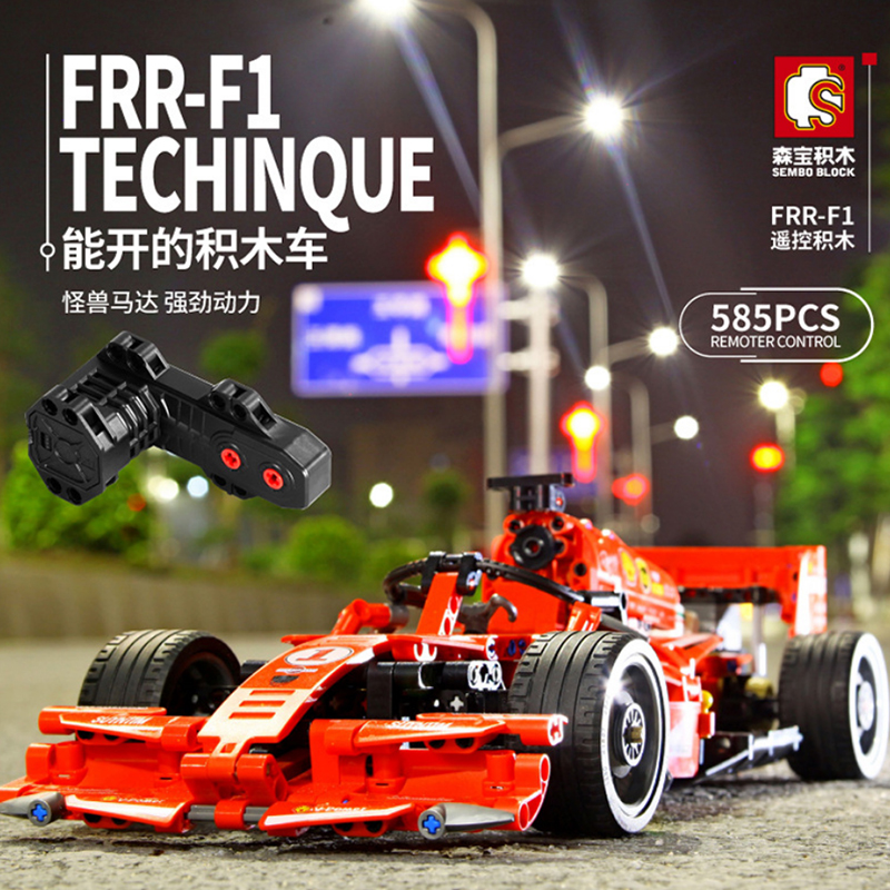 Sembo Blocks Toy city RC Car Technic Remote Control Red F1 MOC Building Blocks Brick kids creative Toys Playmobiled constructor image