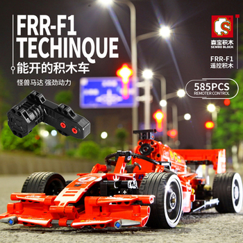 Sembo Blocks Toy city RC Car Technic Remote Control Red F1 MOC Building Blocks  Brick kids creative Toys Playmobiled constructor