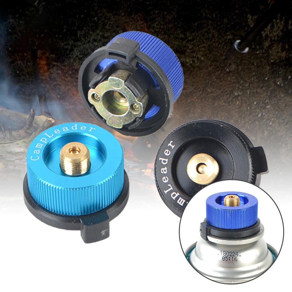 На открытом воздухе кемпинг газ плита преобразователь самозакрывающийся сплит тип печь разъем автоотключение картридж бак баллон адаптер