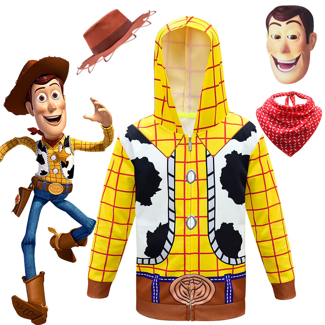 Woody Cowboy Toy Story Mascot Costume Party Character Birthday Halloween Cosplay