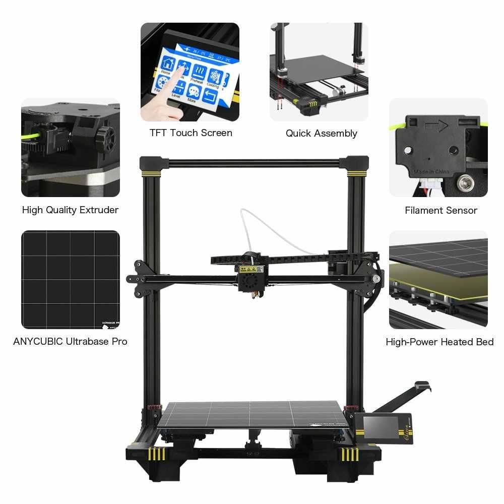 Anycubic Chiron 3d Printer dengan Klip Besar Membangun Volume Leveling Otomatis PLA Filamen FDM 3D Printer Impressora 3D