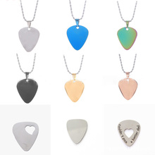 100 Pcs/Lot Wholesale Guitar shaped Stianless Steel Necklace Pendant Blank Dog Cat Tags Pet Accessories