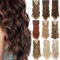 S-noilite 24 дюймов 140 г 8 шт./компл., волосы для наращивания на заколке 18 зажимы ins кудрявые натуральные шиньоны Синтетические накладки для волос д...