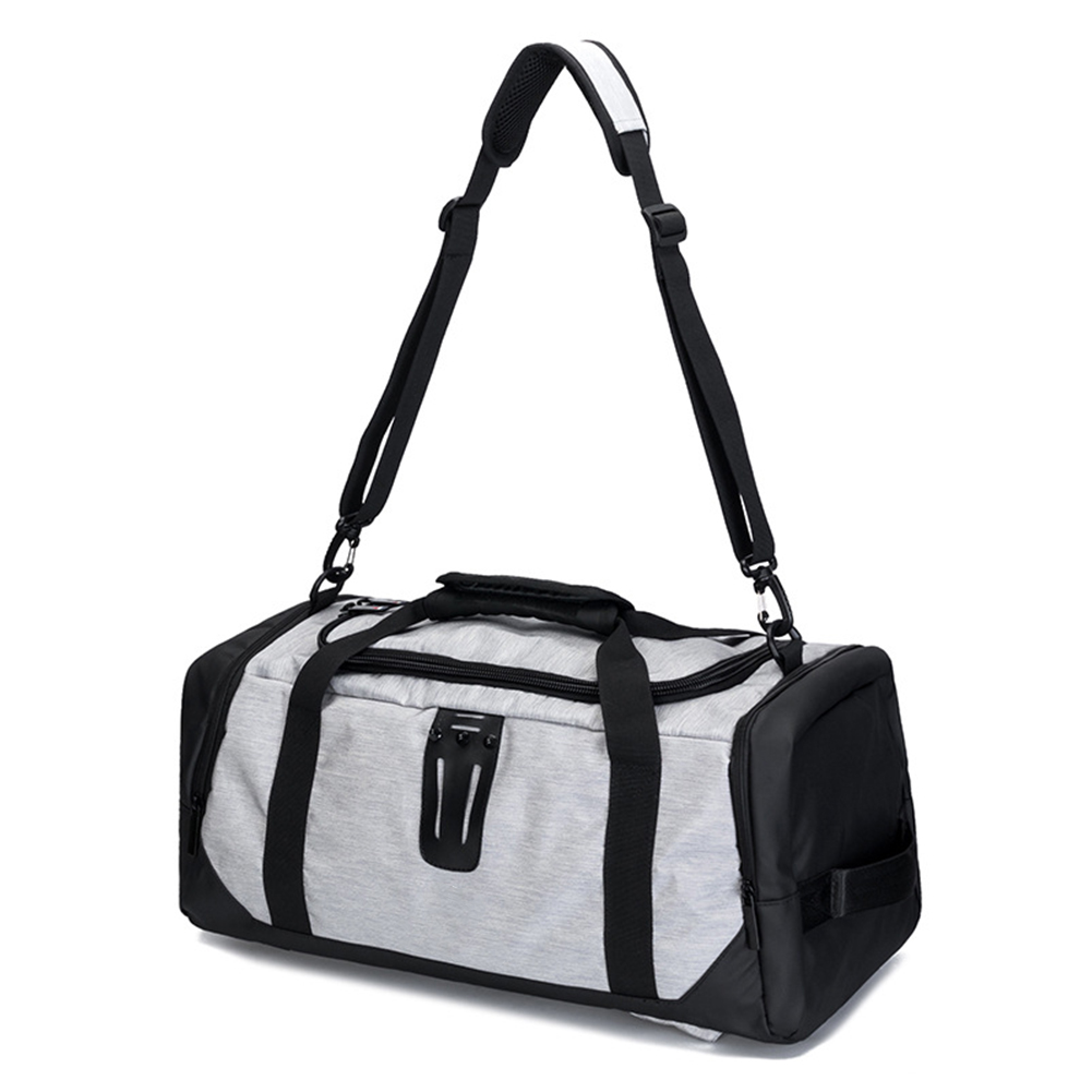 Tote-Backpack Shoe-Compartment Training Sport Gym-Bag Crossbody Travel with Casual Wear-Resistant