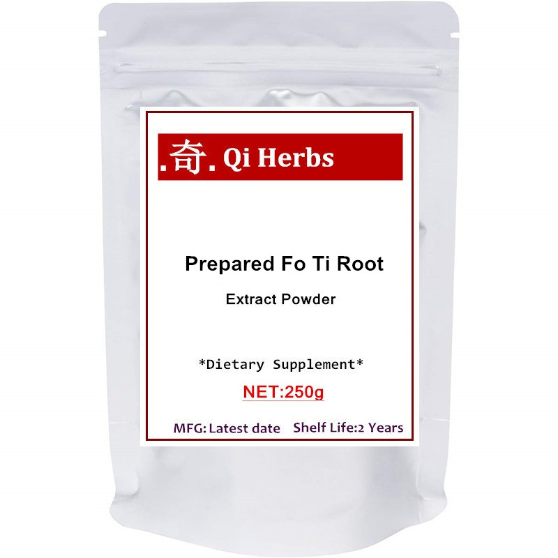 Органический фо ти 50: 1 экстракт порошок (He Shou Wu), традиционная омолаживающая трава, мощно способствует здоровью волос и антиоксиданту