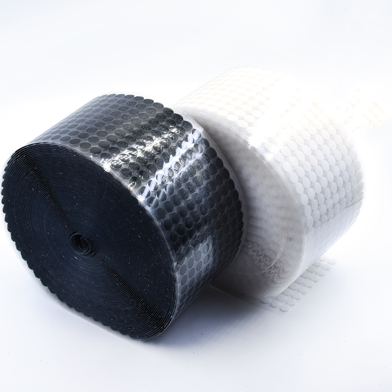 White Black 10 15 20 25mm 108 Pairs Glue Hook and Loops Sticker Strong Self Adhesive Dot Nylon Waterproof Adhesive Fastener Tape