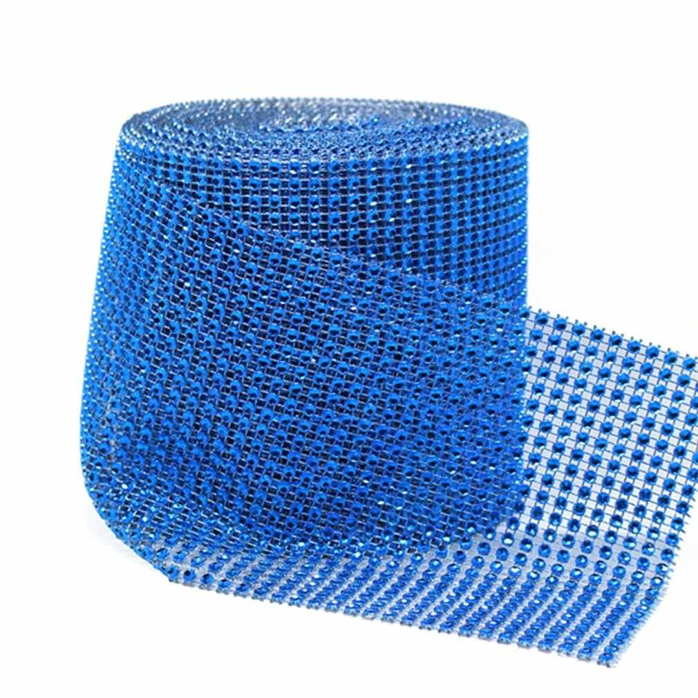 24 Rows/Set Rhinestone Mesh Ribbon Cake Roll Wrap Fashionable Wedding Dress Party Luxury Wrap Decoration Dropshipping