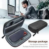 EVA Hard Drive Case Protective Cover Case Wire Charger Protector Storage Box For SanDisk Extreme PRO Portable SSD External Bag|Battery Accessories & Charger Accessories| |  -