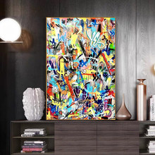 Street Graffiti Art Boy Canvas Paintings Abstract Art Posters and Prints Wall Art Pictures for Living Room Cuadros Home Decor