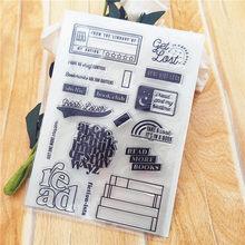11*16cm venda quente livro de leitura selo transparente selo transparente selo de silicone selo de rolo diy scrapbook álbum/cartão produção