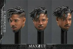 1/6 Leopard Head Sculpt K.MONGER KM 001MAXNUT STUDIO Calm Black Panther Inverse fit 12 Male Action Figure