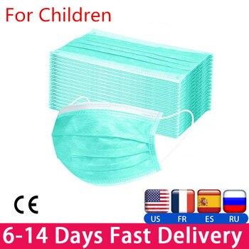 10PCS 3 Layers Mouth Mask Children Cotton Anti Dust Mask Mouth Mask Windproof Mouth-muffle Proof Flu Face Masks Respirator