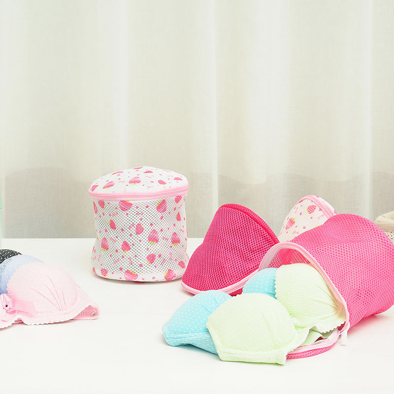 Mesh Laundry Bag For Women Bra Lingerie Drying Wash Bag With Zipper   DEC889