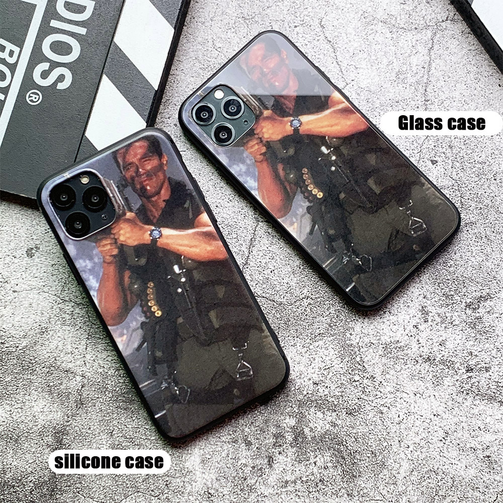 Arnold Schwarzenegger movie Commando 1985 poster glossy smooth tempered glass case For Apple iPhone 11 PRO Arnold Schwarzenegger movie Commando 1985 poster glossy smooth tempered glass case For Apple iPhone 11 PRO MAX i11 pro coque