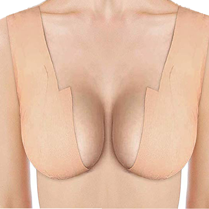 1 Roll Plus Size Comfort Sexy Seamless Bra Breast Lift Tape Body Invisible Nipple Cover Silicone Strapless Push Up Bra For Women