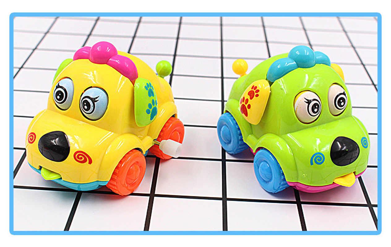 คุณภาพสูงเด็กทารก Clockwork ของเล่นตลก Cartoon Puppy Clockwork ของเล่นเพื่อการศึกษา MultiColor สัตว์ของเล่นรถ