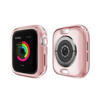 Funda para reloj Apple Watch, 6/4/5/3/2/1, 40mm, 44mm, medio paquete, galvanoplastia, TPU, 6 colores, Series, IWatch, 42mm, 38mm