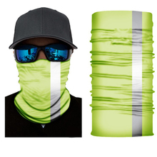 Cycling Reflective Strip Headwear Fishing Moto Hijab Head Hair Scarf Headbands for Man Turban Print Seamless Bandana Fashion