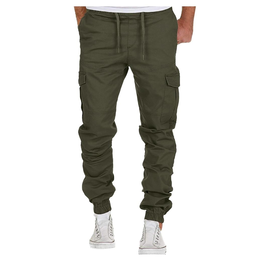 Men's Sport Pure Bandage Loose Sweatpants Drawstring Cargo Pants Sports Trousers Male Streetwear Pantalones Hombre Joggers