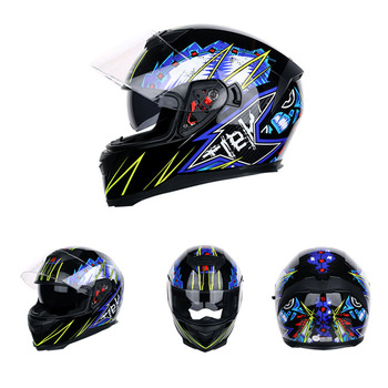 Flip Up Motorcycle Helmet Motorbike Dual Lens Motocross Moto Helmet Full Face Helmets