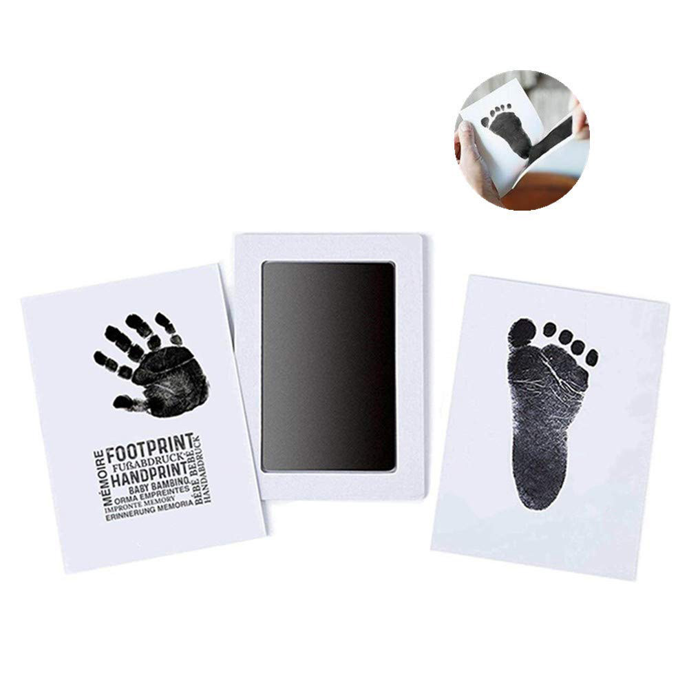 Baby Items For Newborns Mess Free Non-toxic Baby Infant Inkless Safe Imprint Cards Ink Pad Footprint Baby Boy Girl Gift